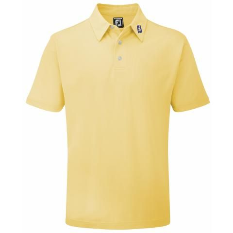 FootJoy Stretch Pique Solid Polo Shirt Yellow 91839