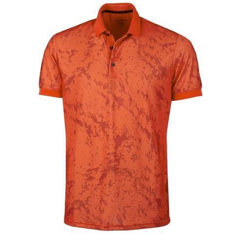 Galvin Green Mike Ventil8 Plus Polo Shirt Red Orange/Molten Lava