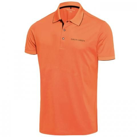 Galvin Green Marty Tour Edition Ventil8 Plus Polo Shirt Red Orange/Black