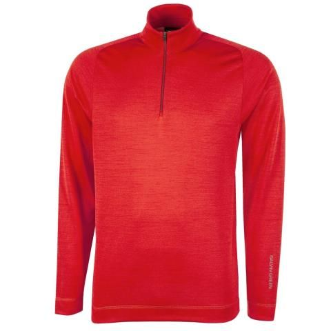 Galvin Green Dixon Insula Half Zip Sweater Red
