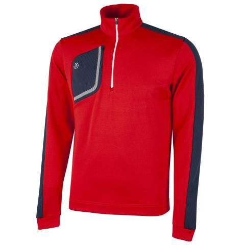 Galvin Green Dwight Insula Half Zip Sweater Red/Navy/White