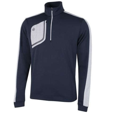 Galvin Green Dwight Insula Half Zip Sweater Navy/White