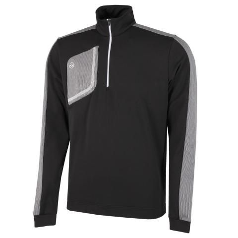 Galvin Green Dwight Insula Half Zip Sweater Black/Sharkskin/White