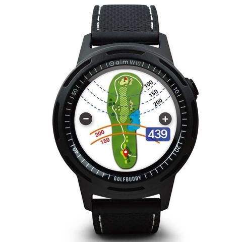 GolfBuddy aim W10 Smart Golf GPS Watch Black