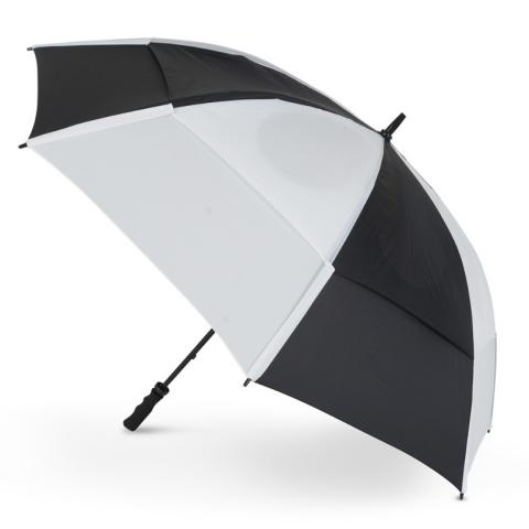 GustBuster Pro Golf Gold Series Double Canopy Golf Umbrella Black/White
