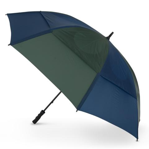 GustBuster Pro Golf Gold Series Double Canopy Golf Umbrella Navy/Hunter Green