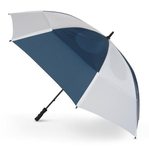 GustBuster Pro Golf Gold Series Double Canopy Golf Umbrella Navy/White