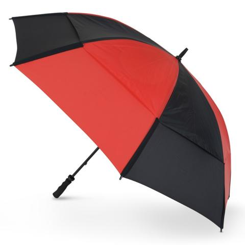 GustBuster Pro Golf Gold Series Double Canopy Golf Umbrella Red/Black