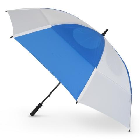 GustBuster Pro Golf Gold Series Double Canopy Golf Umbrella Royal Blue/White