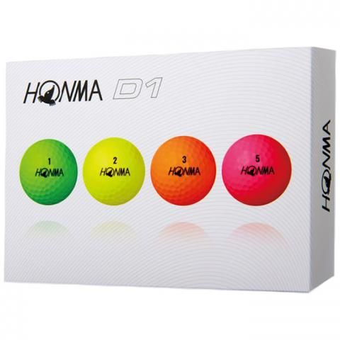 Honma D1 Plus Golf Balls Assorted Colours / Dozen