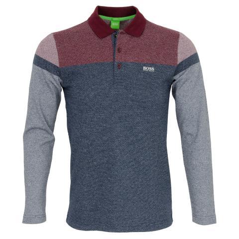 68671642 BOSS ATHLEISURE Pleesy 2 Long Sleeve Polo Shirt Navy | Scottsdale Golf