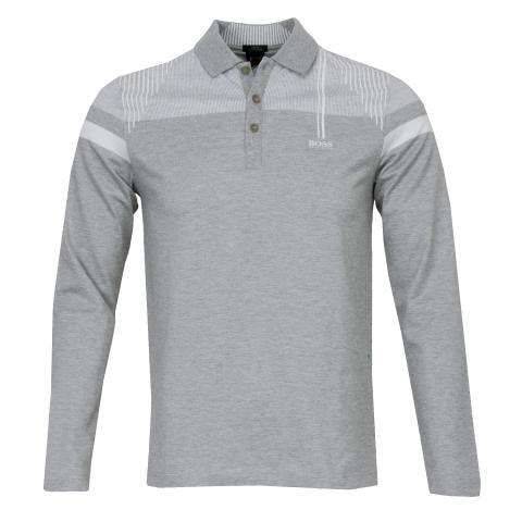 66d86d7f1 BOSS Pleesy 1 Long Sleeved Polo Shirt Light Pastel Grey