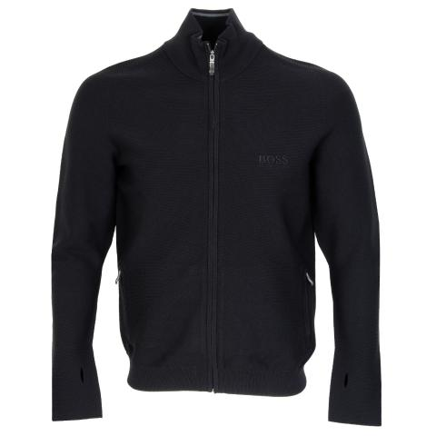 BOSS Zado Zip Sweater Black