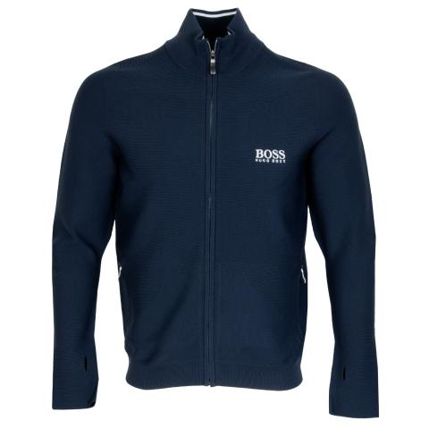 BOSS Zado Zip Sweater Navy