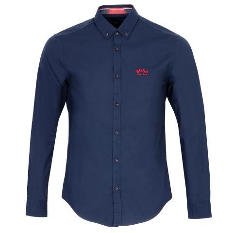 BOSS Biado R Dress Shirt Navy
