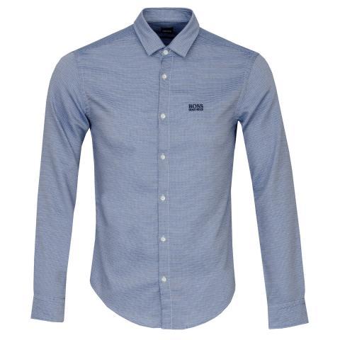 BOSS Brod Dress Shirt Medium Blue