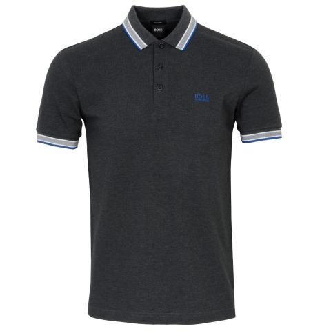BOSS Paddy Polo Shirt Charcoal 012