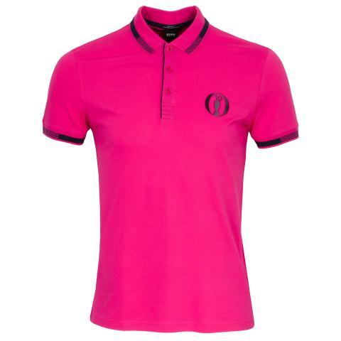 BOSS Paddy BO Open Championship Polo Shirt Bright Pink