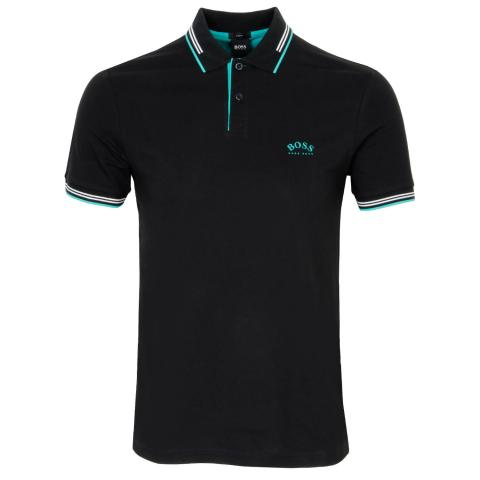 BOSS Paul Curved Polo Shirt Charcoal 014