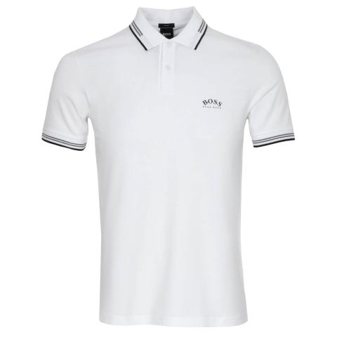 BOSS Paul Curved Polo Shirt Natural 102