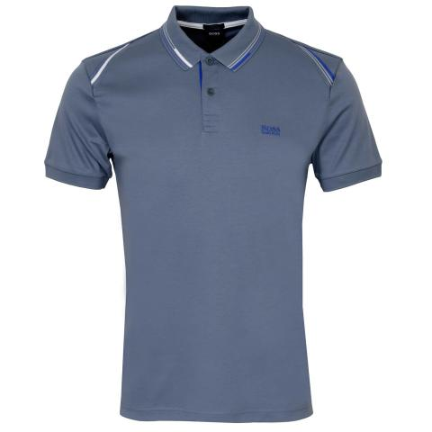 BOSS Paule 1 Polo Shirt Silver 043