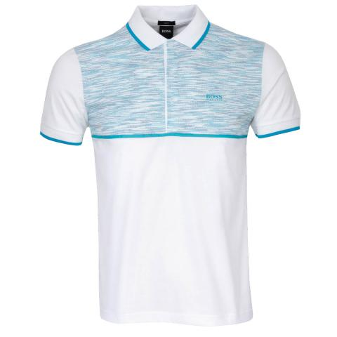 BOSS Paule 5 Polo Shirt White
