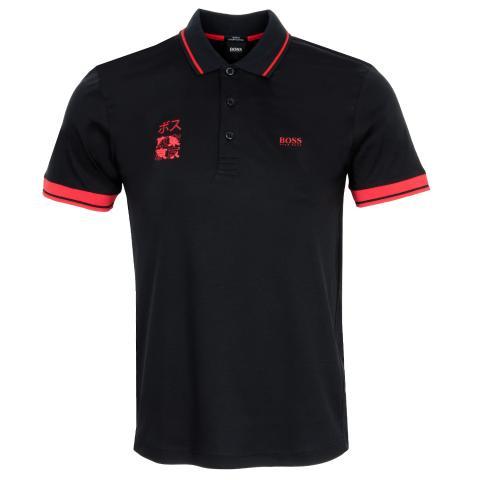 BOSS Paule Tokyo Polo Shirt Black