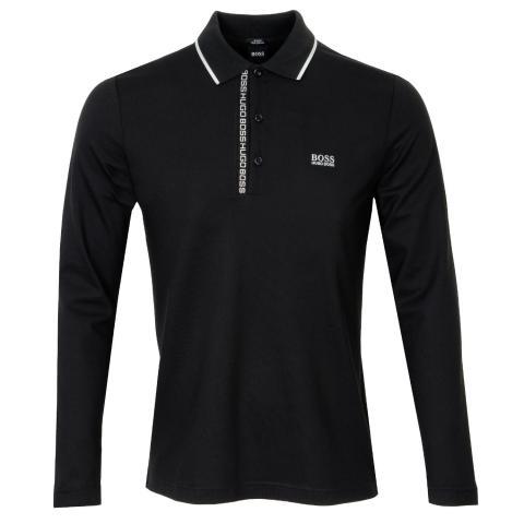 BOSS Pleesy 4 Long Sleeve Polo Shirt Black