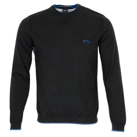 BOSS Riston Crew Neck Sweater Black