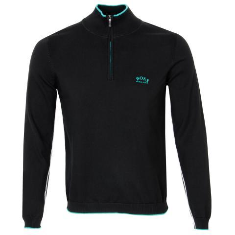 BOSS Ziston Zip Neck Sweater Black PF20