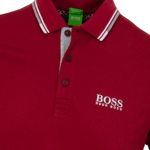 043000fc7d2d BOSS ATHLEISURE Paddy Pro Polo Shirt Dark Red | Scottsdale Golf