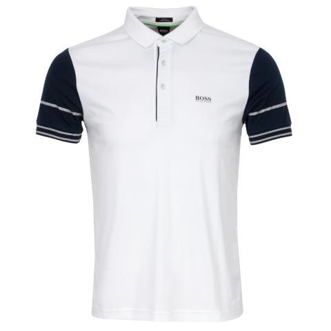 Hugo BOSS Paule 6 Men/'s Polo Shirt Short Sleeve Slim Fit 50388206 100 White