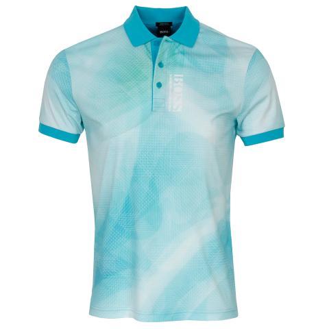 BOSS Paddy 6 Polo Shirt Open Blue