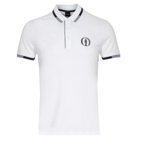 BOSS Paddy BO Open Championship Polo Shirt White