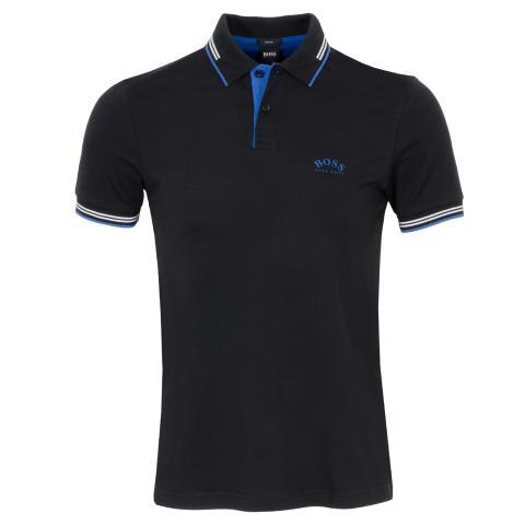BOSS Paul Curved Polo Shirt Black