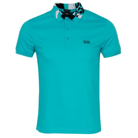 BOSS Paule 2 Polo Shirt Open Blue