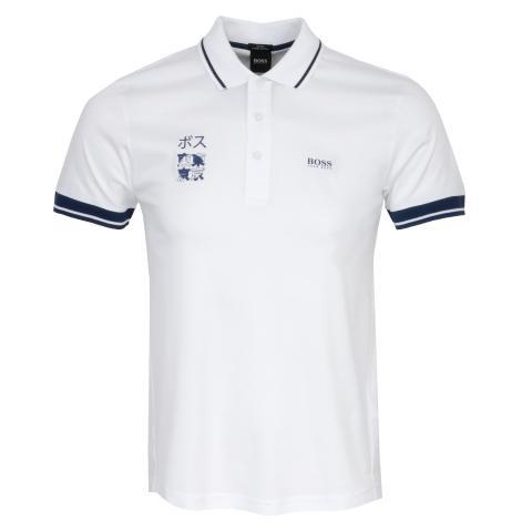 BOSS Paule Tokyo Polo Shirt White