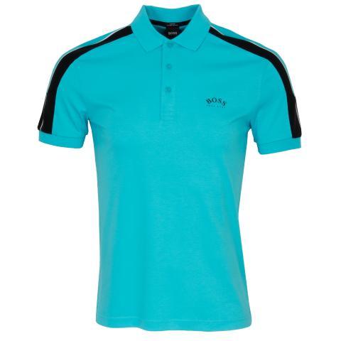 BOSS Paule 1 Polo Shirt Open Blue