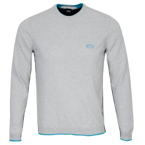 BOSS Riston Crew Neck Sweater Light/Pastel Grey