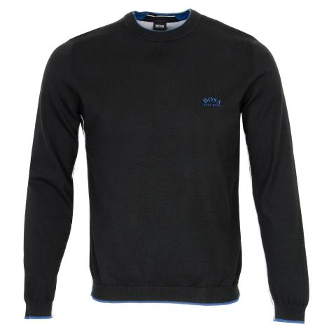 BOSS Ziston Zip Neck Sweater Black