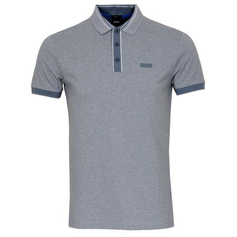 BOSS Paddy 2 Polo Shirt Silver