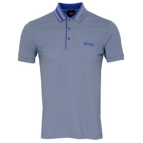 BOSS Paule 3 Polo Shirt Silver 043
