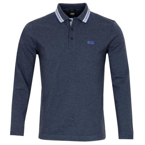 BOSS Plisy Long Sleeved Polo Shirt