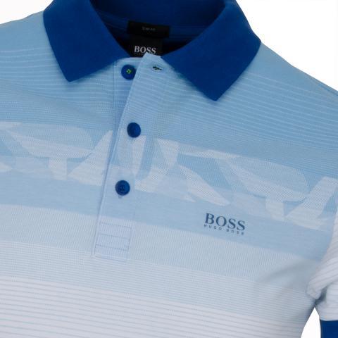 464356df5 BOSS ATHLEISURE Paule 6 Polo Shirt Medium Blue SP18 | Scottsdale Golf