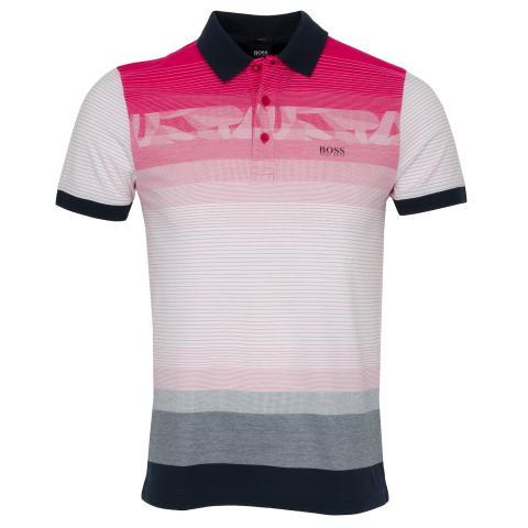 fab7b96e BOSS ATHLEISURE Paule 6 Polo Shirt Bright Pink SP18 | Scottsdale Golf