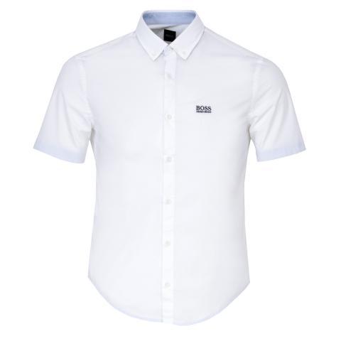 BOSS Biadia Short Sleeve Dress Shirt White