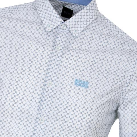 BOSS Biadia Short Sleeve Patterned Dress Shirt