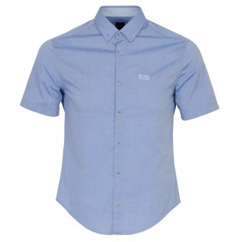 BOSS Biadia Short Sleeve Dress Shirt Bright Blue