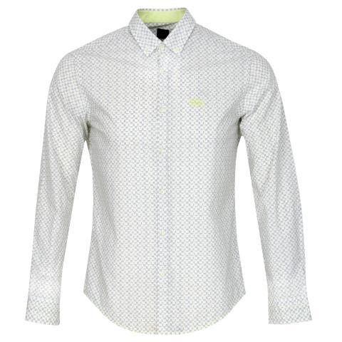 BOSS Biado Patterned Dress Shirt Light/Pastel Green
