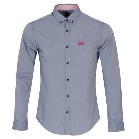 BOSS Biado Dress Shirt Open Blue